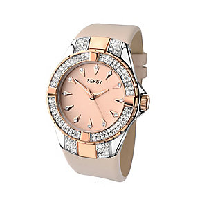 Sekonda Seksy Ladies' Swarovski Elements Rose Leather Watch - Product number 2284812