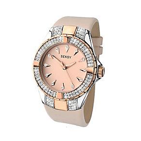 Sekonda Seksy Ladies' Swarovski Elements Rose Leather Watch - Product number 2284812