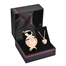 Seksy Ladies' Rose & Swarovski Elements Watch & Pendant Set - Product number 2284839