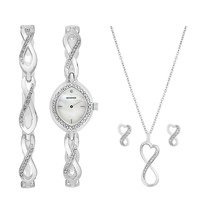 Sekonda Ladies' Watch Bracelet Earring & Pendant Set - Product number 2286602