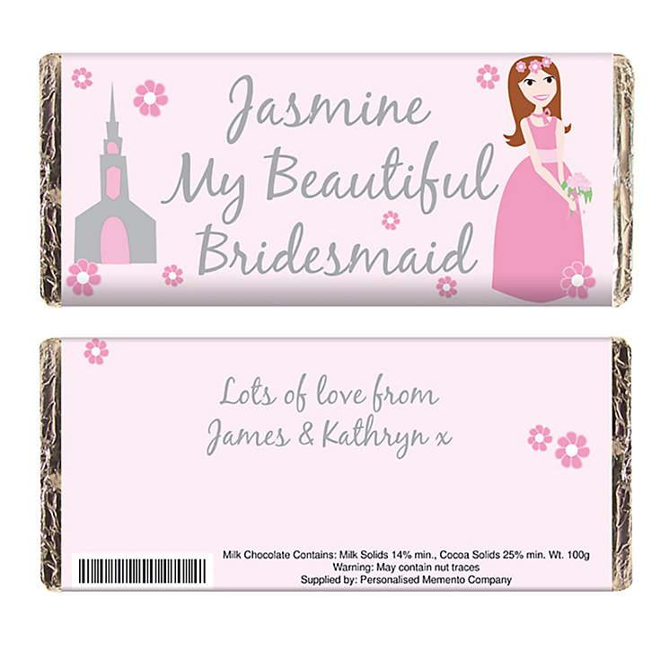 Beautiful Bridesmaid Chocolate Bar - Product number 2288079