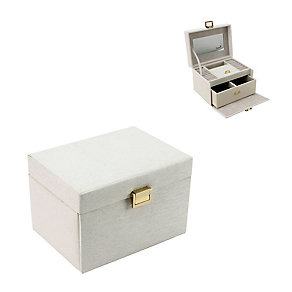 Cream And Glitter Rectangular Jewellery Box - Product number 2288591