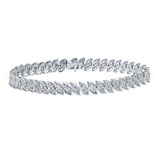 9ct white gold 2 carat diamond bracelet with secret diamond - Product number 2290448