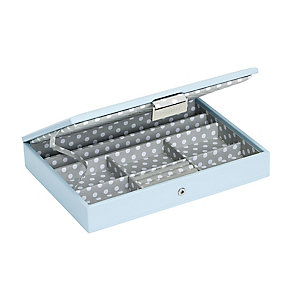 Teal Stacker Jewellery Box With Polka Dot Interior - Product number 2290480