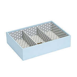 Teal Three Section Stacker Box With Polka Dot Interior - Product number 2290529