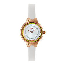 MW by Matthew Williamson Ladies' White Strap Watch - Product number 2291789