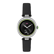 MW by Matthew Williamson Ladies' Black Leather Strap Watch - Product number 2291800