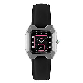 MW by Matthew Williamson Ladies' Black Leather Strap Watch - Product number 2291843