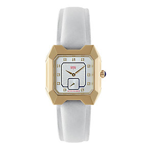 MW by Matthew Williamson Ladies' White Strap Watch - Product number 2291851