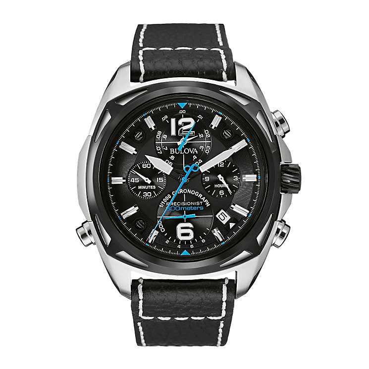 Bulova Precisionist men's black leather strap watch - Product number 2293005