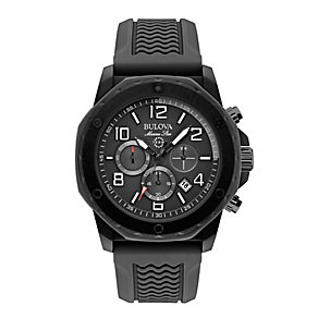Bulova Marine Star men's black rubber strap watch - Product number 2293048