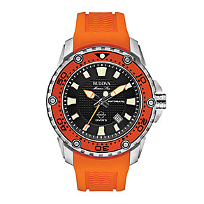 Bulova Marine Star men's orange rubber strap watch - Product number 2293080