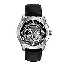 Bulova Automatic men's black leather strap watch - Product number 2293129