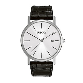 Bulova Dress men's black leather strap watch - Product number 2293137