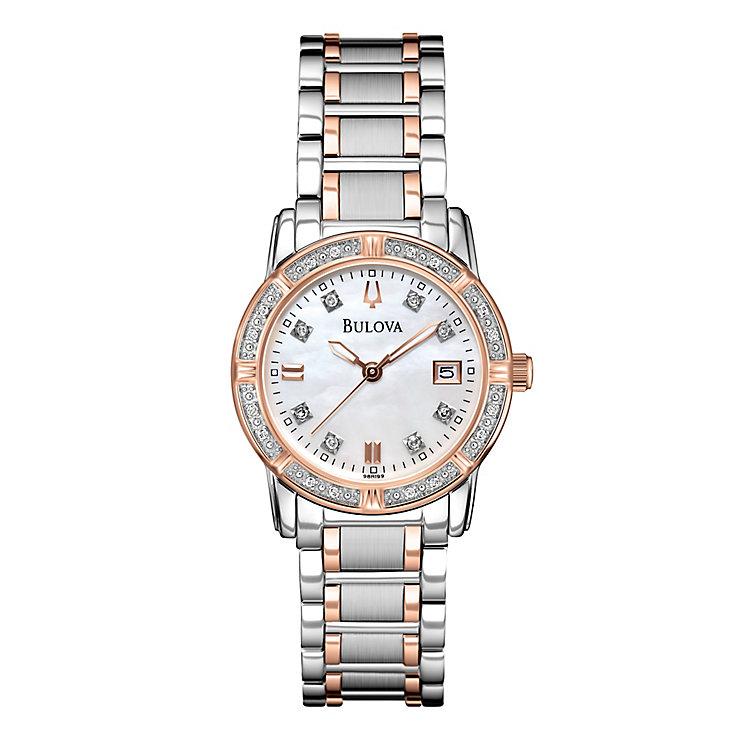 Bulova Diamond ladies' two colour bracelet watch - Product number 2293196
