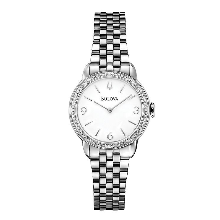 Bulova ladies' stainless steel bracelet watch - Product number 2293250