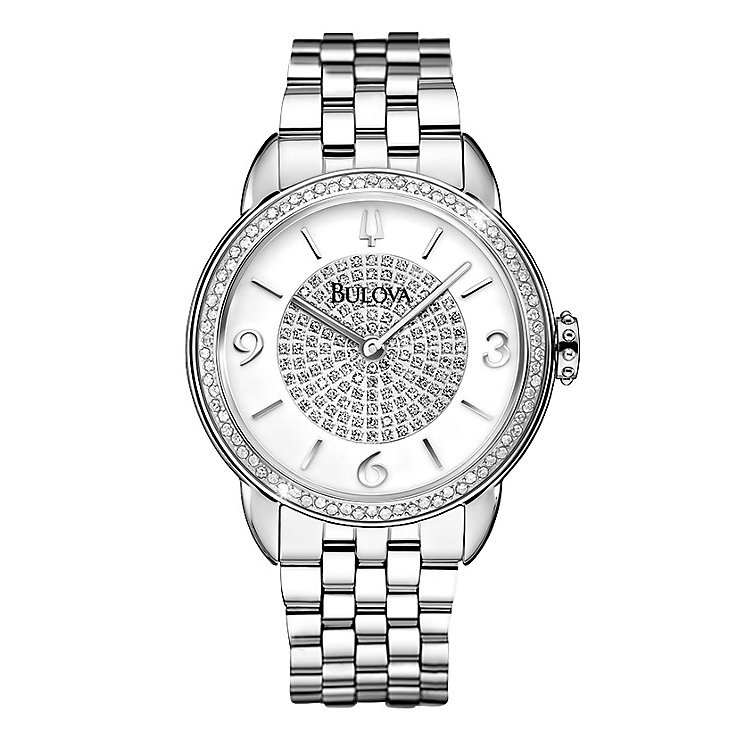 Bulova ladies' stainless steel bracelet watch - Product number 2293277