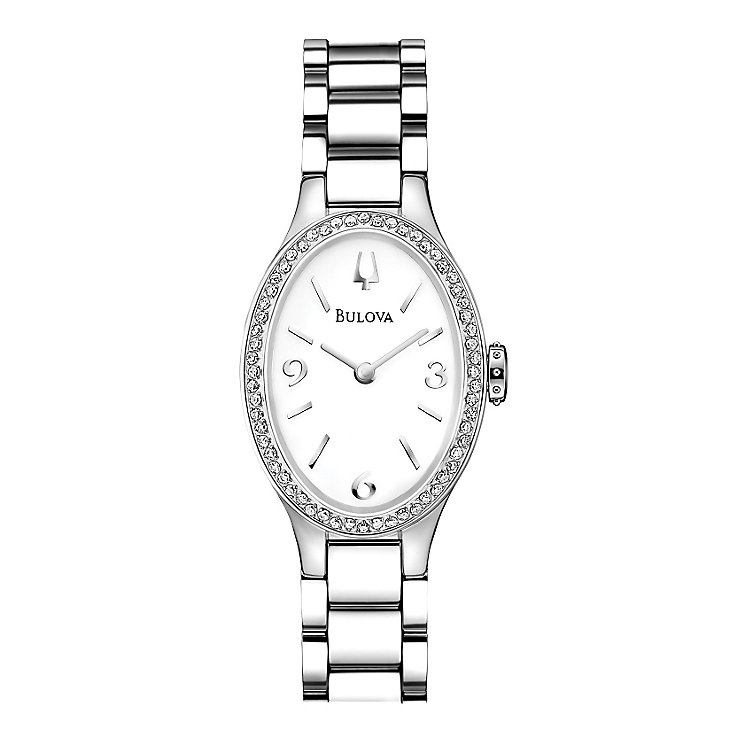 Bulova ladies' stainless steel bracelet watch - Product number 2293293