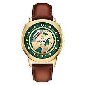 Bulova Accutron II Alpha men's brown leather strap watch - Product number 2293315