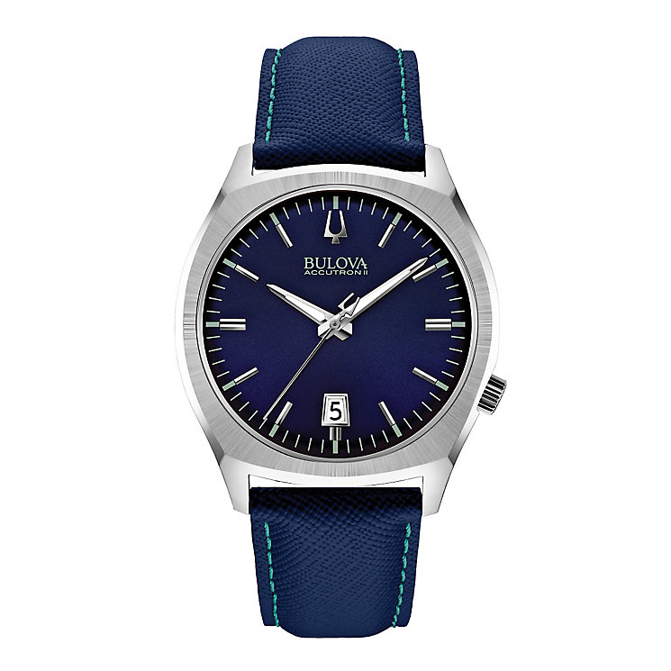 Bulova Accutron II Surveyor men's blue fabric strap watch - Product number 2293331