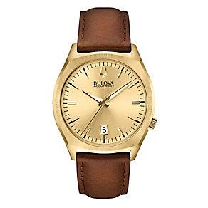 Bulova Accutron II Surveyor men's brown leather strap watch - Product number 2293374