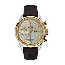 Bulova Accu-Swiss Murren men's brown leather strap watch - Product number 2293404