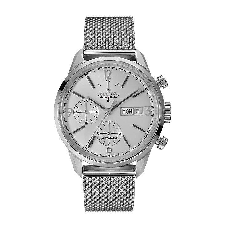Bulova Accu-Swiss men's stainless steel mesh bracelet watch - Product number 2293412