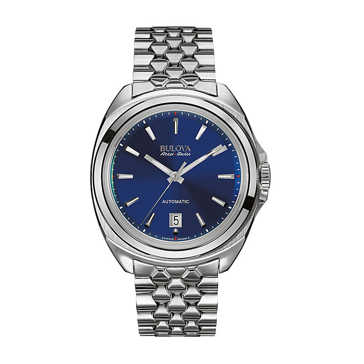 Bulova Accu-Swiss Telc men's stainless steel bracelet watch - Product number 2293439