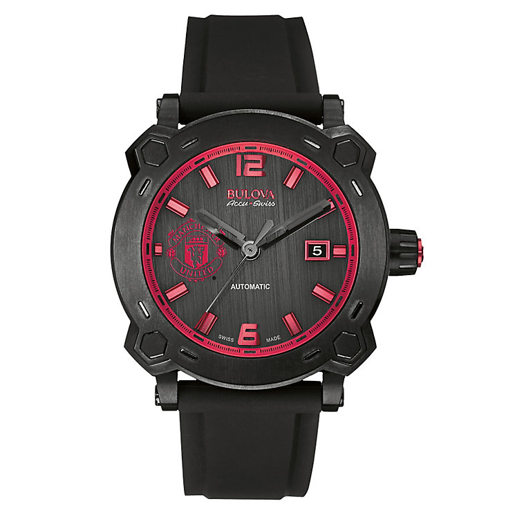 Bulova Manchester United men's ion-plated black strap watch - Product number 2293455