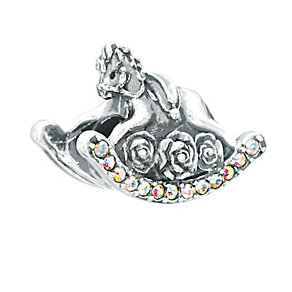 Chamilia Sterling Silver & Crystal Rocking Horse Bead - Product number 2293609