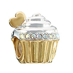 Chamilia Sterling Silver & Yellow Gold Plated Cupcake Bead - Product number 2293730