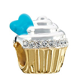Chamilia Sterling Silver & Yellow Gold Plated Cupcake Bead - Product number 2293749