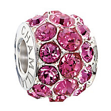 Chamilia Silver Rose Swarovski Crystal Splendour Bead - Product number 2293781