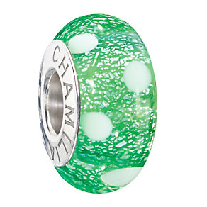 Chamilia Silver & Green Murano Glass Santa's Helper Bead - Product number 2293900