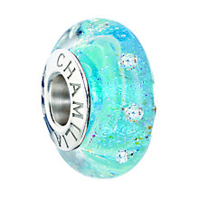 Chamilia Sterling Silver & Blue Murano Glass Slipper Bead - Product number 2293935