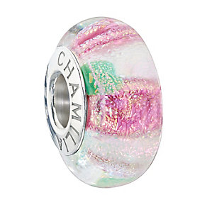 Chamilia Sterling Silver & Murano Glass Rosebud Bead - Product number 2293951