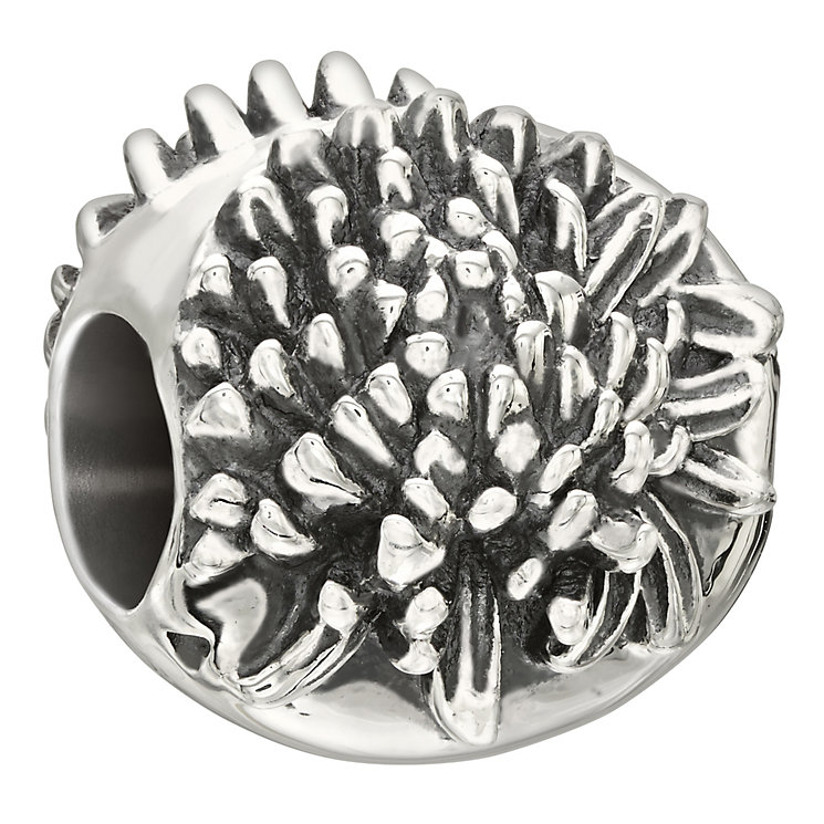Chamilia Sterling Silver Chrysanthemum Flower November Bead - Product number 2294052