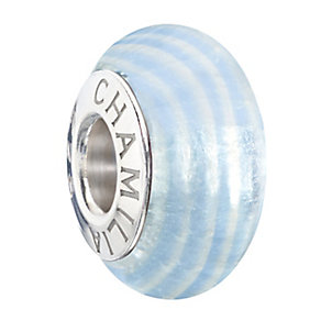 Chamilia Sterling Silver & Blue Ribbon Candy Murano Bead - Product number 2294079