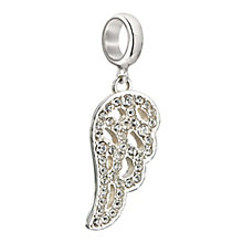 Chamilia Sterling Silver & Crystal Angel Wing Hanging Bead - Product number 2294095