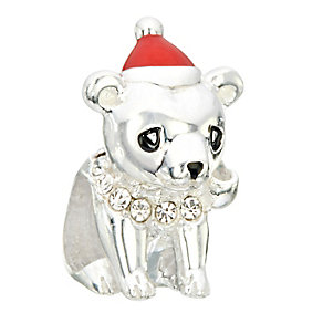 Chamilia Silver & Swarovski Elements Bear Hug Bead - Product number 2294168