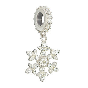 Chamilia Silver Swarovski Elements Brilliance Snowflake Bead - Product number 2294257