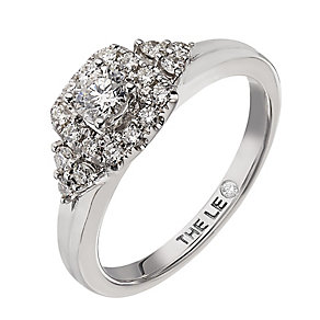 Leo Diamond 18ct white gold 0.50ct I I1 diamond halo ring - Product number 2294575