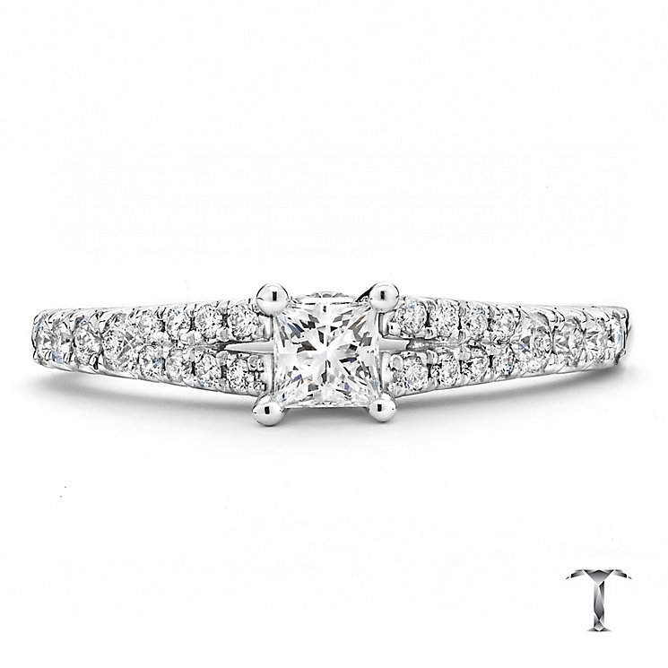 Tolkowsky 18ct white gold 0.50ct I-I1 diamond ring - Product number 2294885