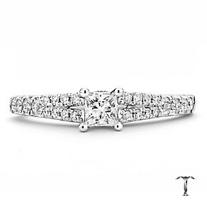 Tolkowsky 18ct white gold 0.50ct I I1 solitaire diamond ring - Product number 2294885
