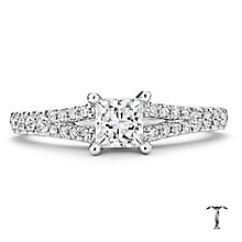 Tolkowsky 18ct white gold 0.75ct I-I1 diamond ring - Product number 2295024