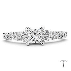 Tolkowsky 18ct white gold 0.75ct I I1 solitaire diamond ring - Product number 2295024