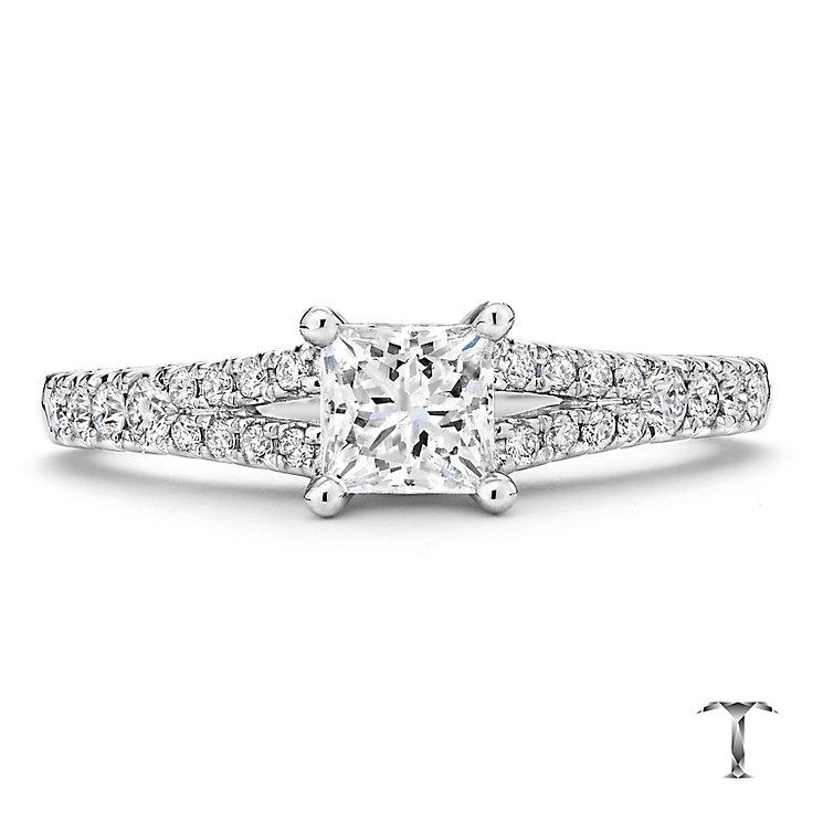 Tolkowsky 18ct white gold 1.00ct I-I1 diamond ring - Product number 2295164