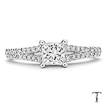 Tolkowsky 18ct white gold 1.00ct I-I1 diamond ring - Product number 2295164