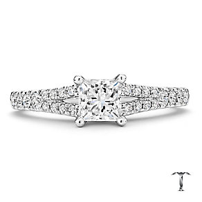 Tolkowsky 18ct white gold 1.00ct I I1 solitaire diamond ring - Product number 2295164