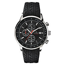 Accurist Men's Chronograph Black Rubber Strap Watch - Product number 2295326